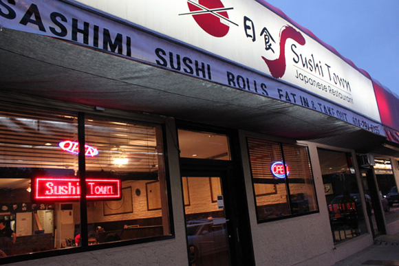 Sushi Town on Hastings in North Burnaby