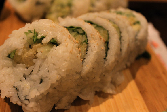 Yam Tempura Roll at Sushi Town