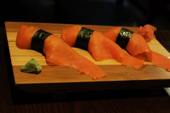 Sushi Town Smoked Salmon Nigiri