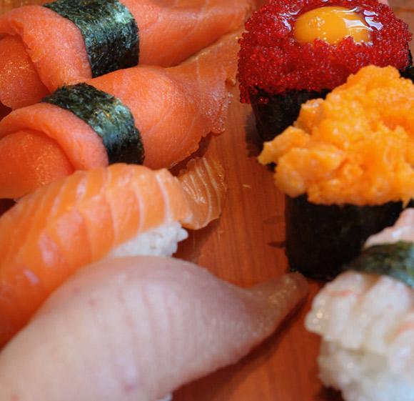 Delicious ngiri at Sushi Garden