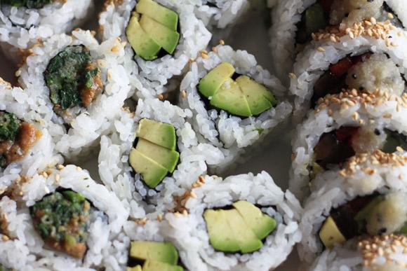 Vegetarian rolls at Genji Sushi