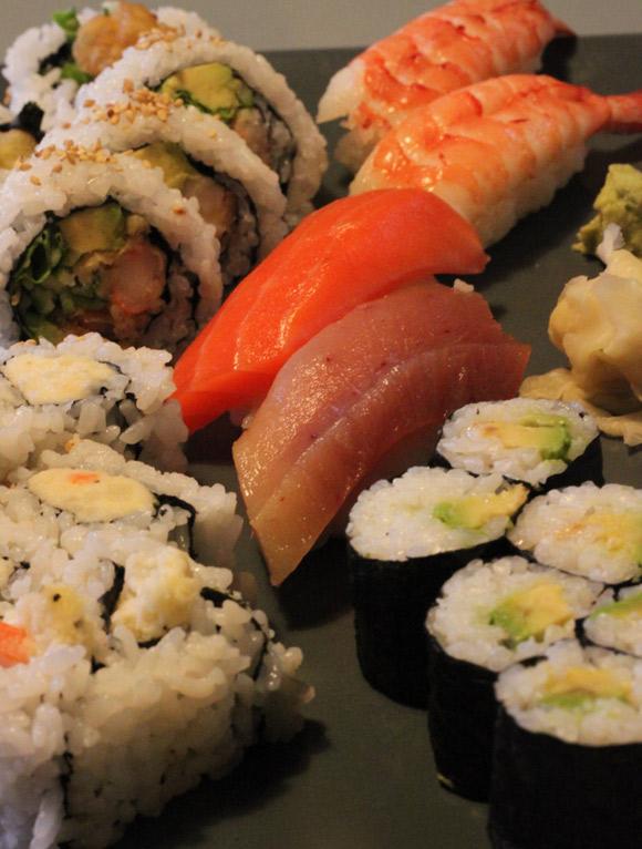 Sushi at Sushi Q Tea Cafe