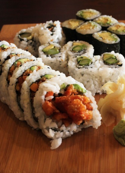 Vegetarian Rolls at Gaya Sushi