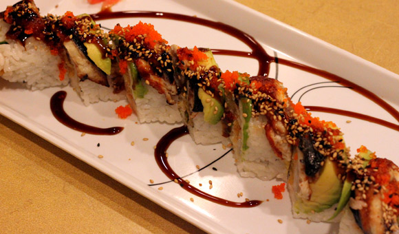 Dragonfly Roll at Asakusa Sushi