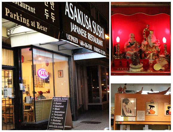 Exterior and Interior of Asakusa Sushi