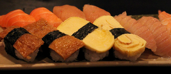 Nigiri at Fish on Rice