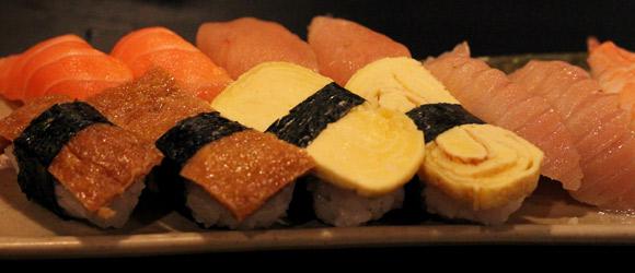 Nigiri at Fish on Rice