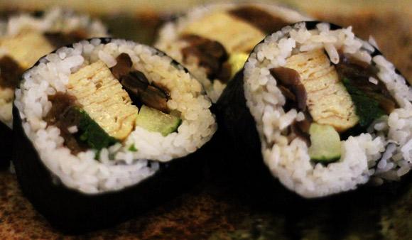 Vegetarians will enjoy the Futo-Maki Roll