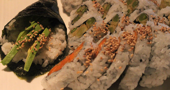 Vegetarian options at Okaman Sushi