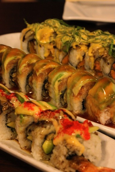 Lots of specialty rolls at Tomoya Sushi