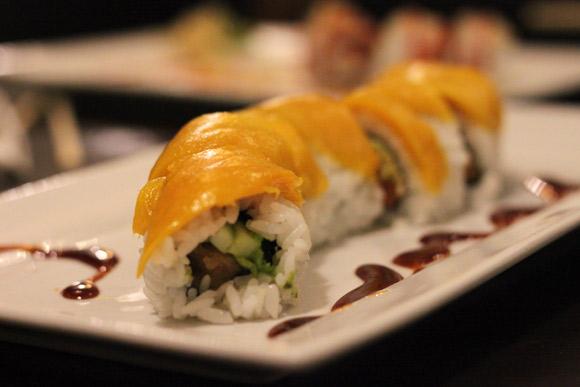 Mango Paradise Roll at Tang Tang Sushi