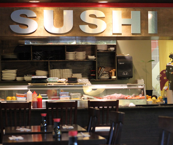 The interior of Sushi S