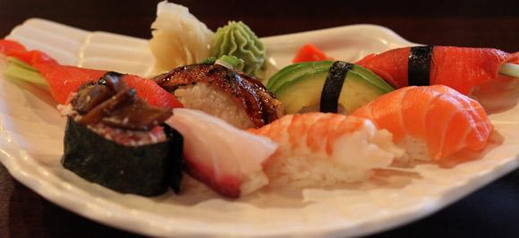Several Ngiri Sushi at Sushi S