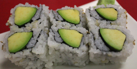 Avocado Roll at Kato Sushi