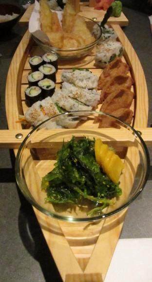 Vegetarian boat at Kawawa Japanese Restaurant