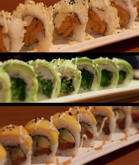 Special rolls at Osaka Island