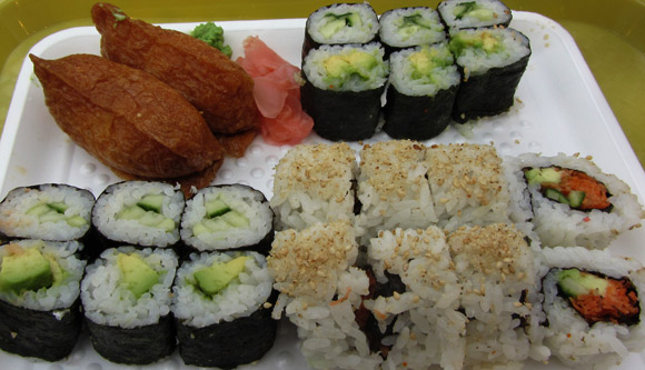 Vegetable Combo at Izumi Sushi in Metrotown Mall