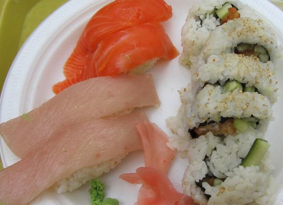 Sushi Combo D at Izumi Sushi in Metrotown Mall