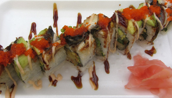 Dragon Roll at Izumi Sushi in Metrotown