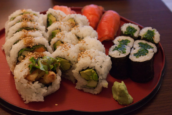 Vegetarian Sushi at Sushi Kaku