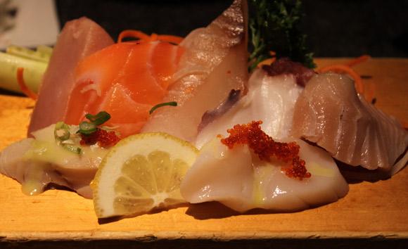 Appetizer Sashimi at Miki Sushi