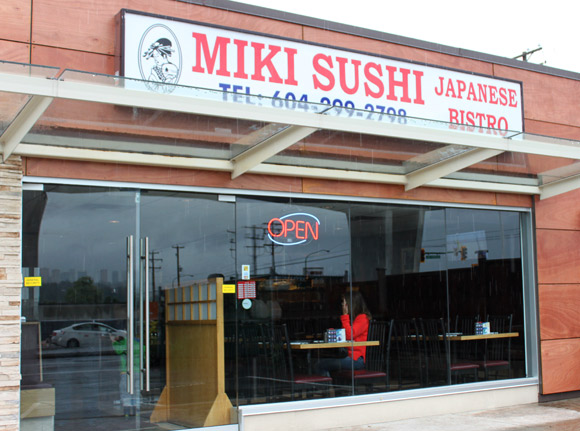 Miki Sushi just west of Willingdon and Lougheed Highway