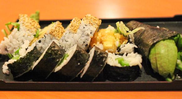 Vegetarian sushi at Take Sushi