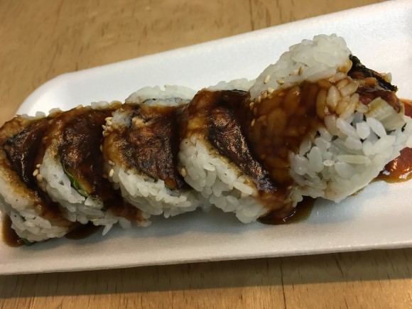 The BC Roll at Sashimi Sushi
