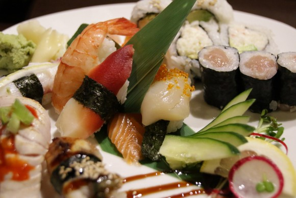 Assorted sushi combo at Y Sushi