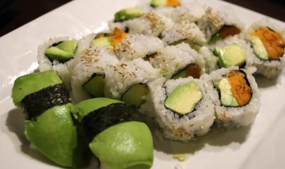 Avocado Ngiri and rolls at Y Sushi