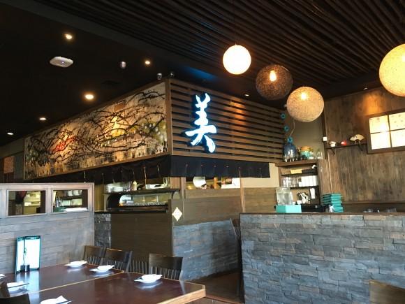 Inside Sushi Bella on Kingsway near Royal Oak