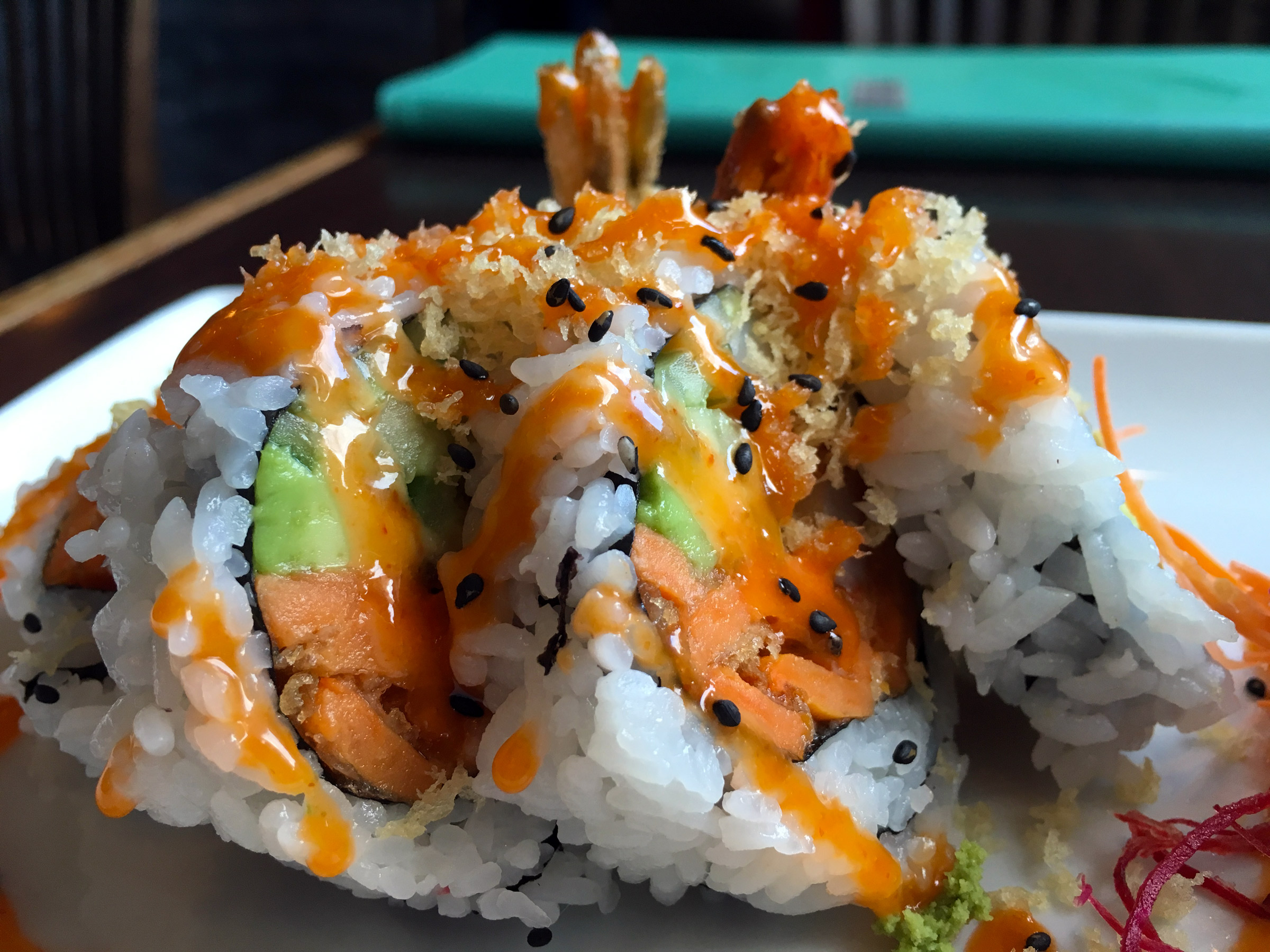 The Crunchy Go-Go Roll at Sushi Bella in Burnaby.